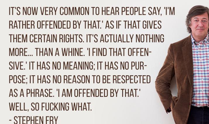 Stephen Fry og Rosenstand har en holdning til fælles